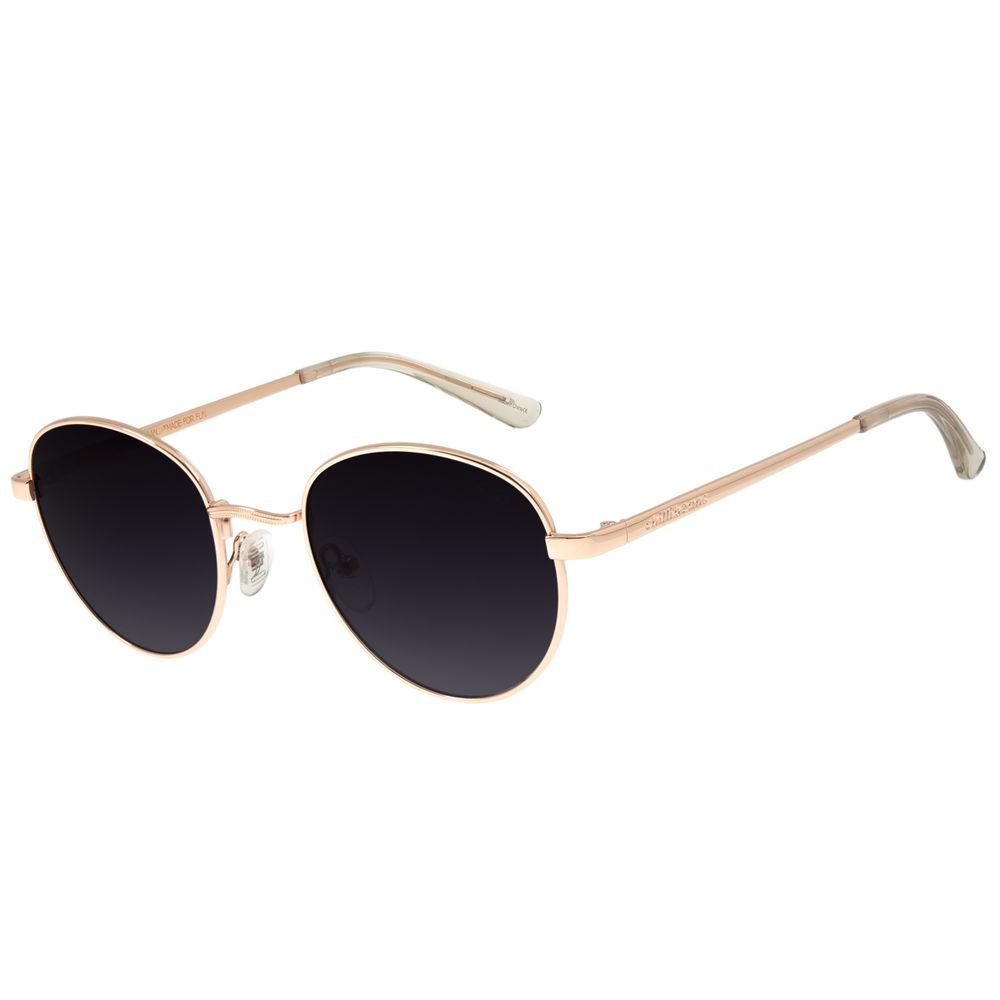 Óculos De Sol Unissex Chilli Beans Redondo Metal Preto OC.MT.2517-2030