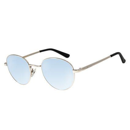 Óculos De Sol Unissex Chilli Beans Essential Redondo Metal Espelhado OC.MT.2517-3207