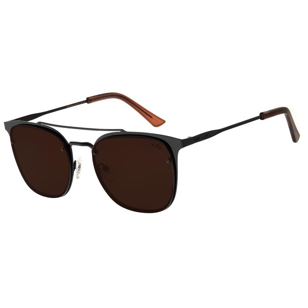 Óculos de Sol Masculino Chilli Beans Metal Quadrado Preto OC.MT.2539-0001