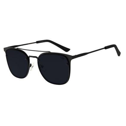 Óculos de Sol Masculino Chilli Beans Metal Quadrado Preto OC.MT.2539-0101