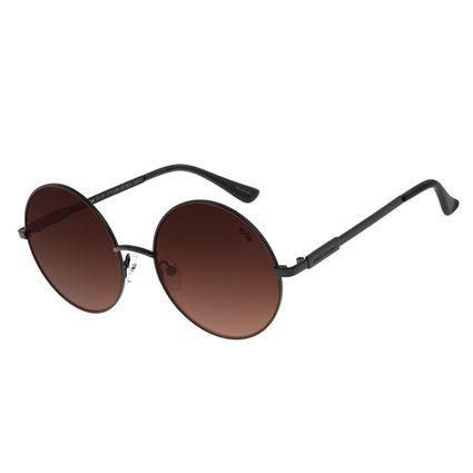Óculos de Sol Feminino Chilli Beans Redondo Metal Degradê Marrom OC.MT.2715-5701
