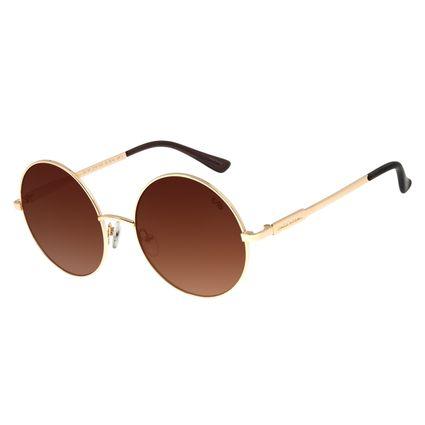 Óculos de Sol Feminino Chilli Beans Redondo Metal Degradê Dourado OC.MT.2715-5721