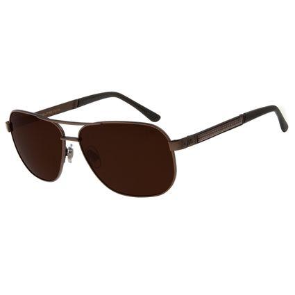 Óculos de Sol Masculino Chilli Beans Metal Executivo Marrom Escuro Polarizado OC.MT.2754-0247