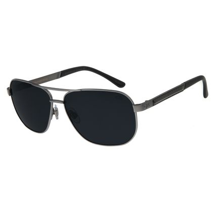 Óculos de Sol Masculino Chilli Beans Metal Executivo Ônix Polarizado OC.MT.2754-0122