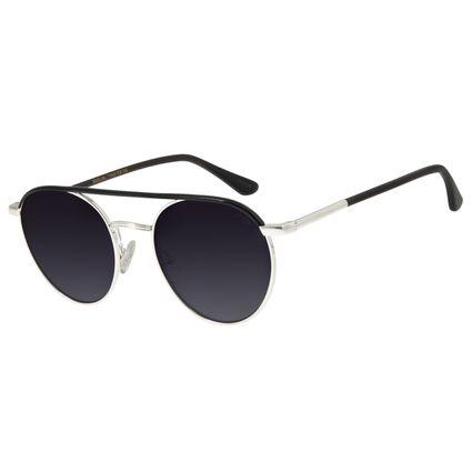 Óculos de Sol Feminino Chilli Beans Redondo Banhado A Ouro Prata OC.MT.2773-2007