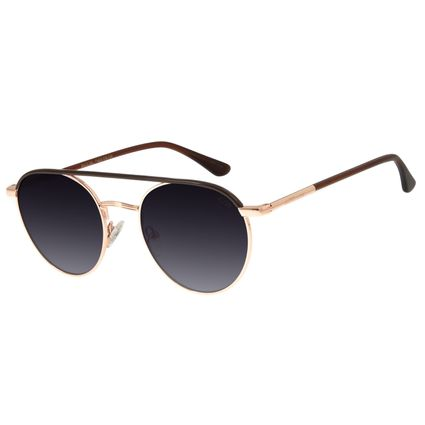 Óculos de Sol Feminino Chilli Beans Redondo Banhado A Ouro Rosê OC.MT.2773-2095