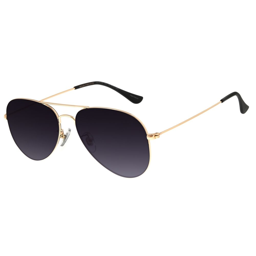 Óculos de Sol Unissex Chilli Beans Aviador Metal Dourado OC.MT.2781-2021