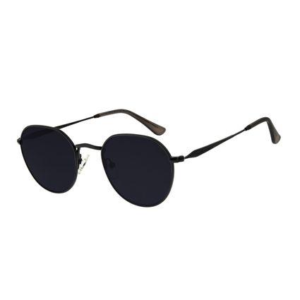 Óculos de Sol Unissex Chilli Beans Redondo Preto OC.MT.2784-0101
