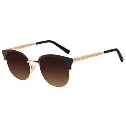 Óculos de Sol Feminino Chilli Beans Quadrado Metal Degradê Marrom OC.MT.2788-5701