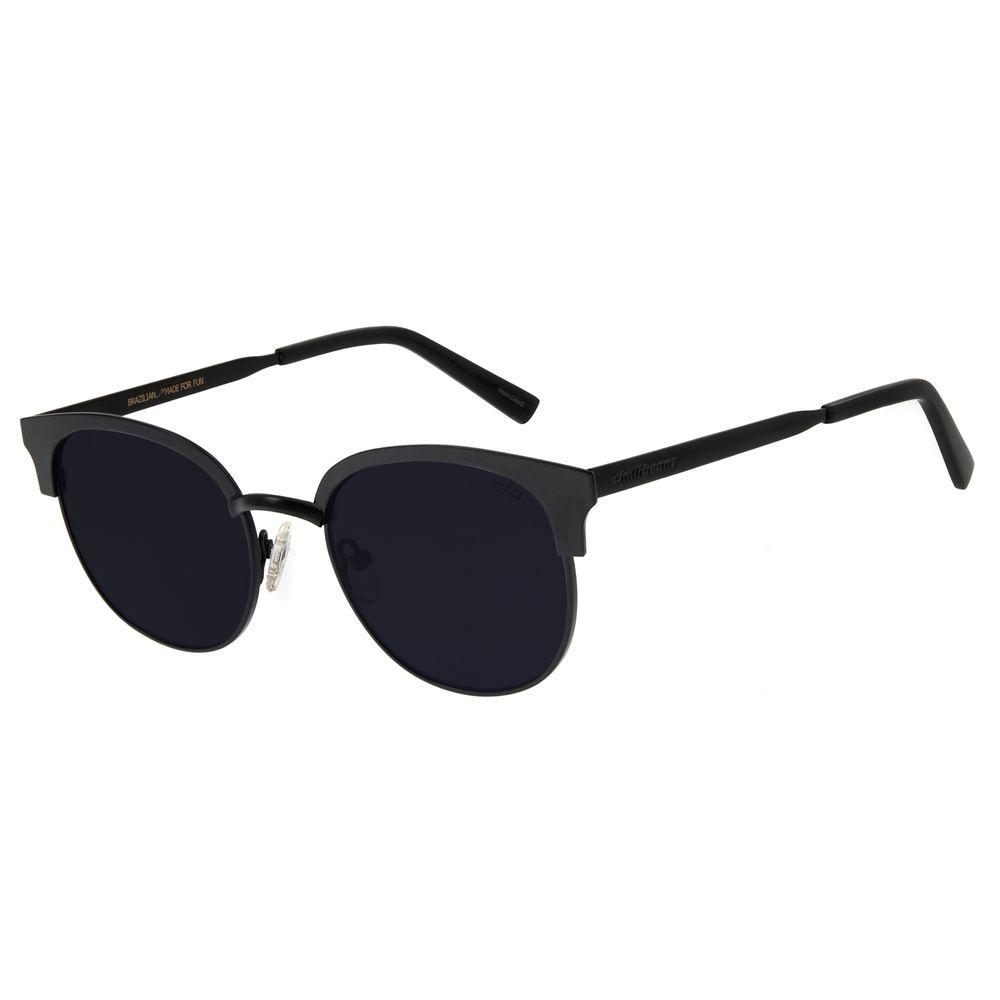 Óculos de Sol Feminino Chilli Beans Quadrado Metal Preto OC.MT.2788-0101