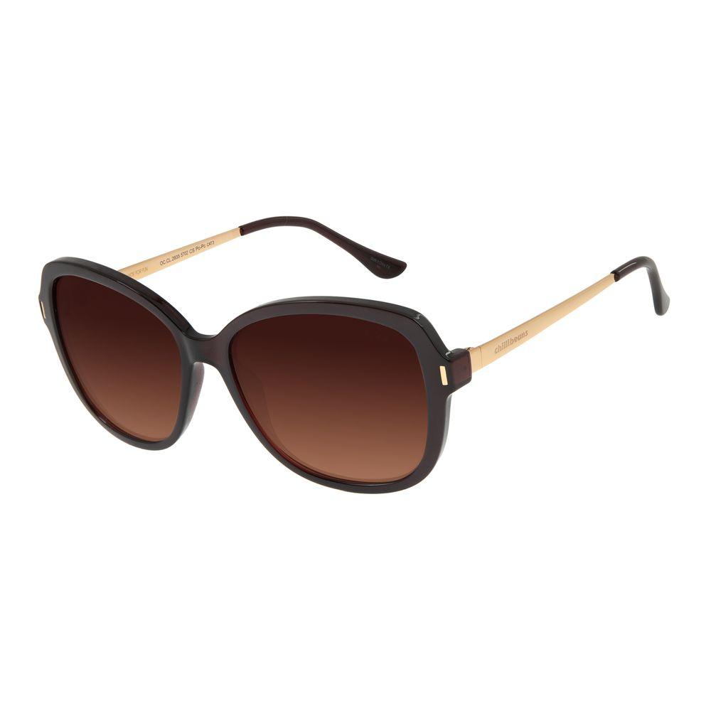 Óculos de Sol Feminino Chilli Beans Quadrado Maxi Marrom OC.CL.2935-5702