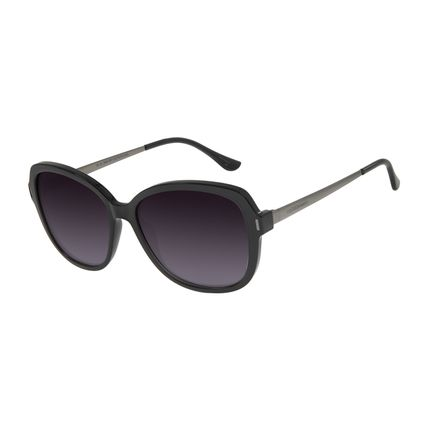 Óculos de Sol Feminino Chilli Beans Quadrado Maxi Preto OC.CL.2935-2001