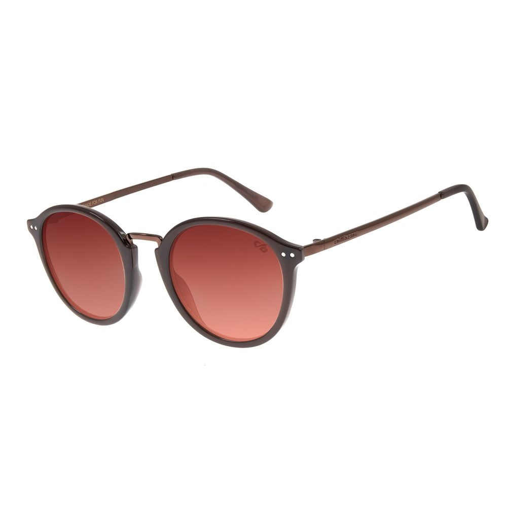 Óculos de Sol Unissex Chilli Beans Redondo Tartaruga OC.CL.3004-5706