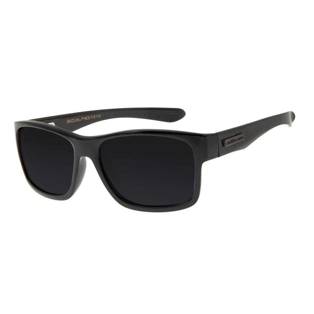 Óculos de Sol Masculino Chilli Beans New Sport Preto Brilho Polarizado OC.ES.1218-0130