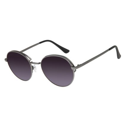 Óculos de Sol Feminino Chilli Beans Redondo Flap Ônix OC.MT.2583-0122