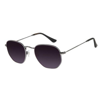 Óculos de Sol Unissex Chilli Beans Redondo Ônix Metal OC.MT.2606-2022