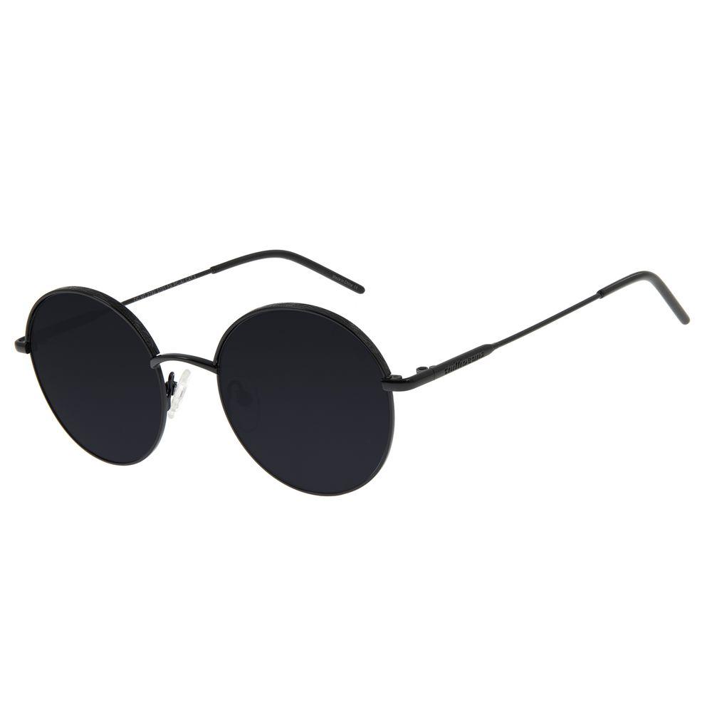Óculos de Sol Feminino Chilli Beans Redondo Preto Metal OC.MT.2762-0101