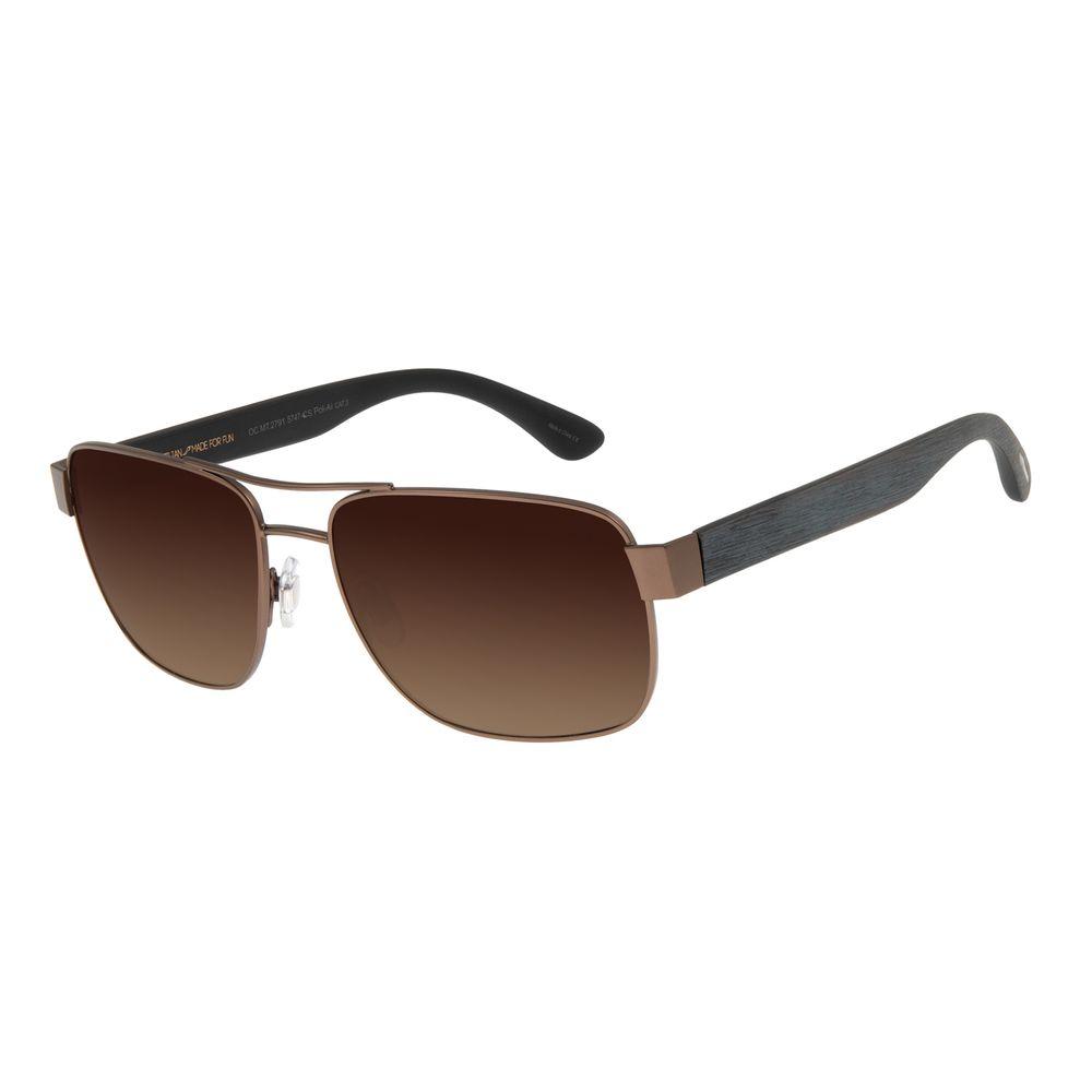 Óculos de Sol Masculino Chilli Beans Executivo Marrom Escuro Polarizado OC.MT.2791-5747