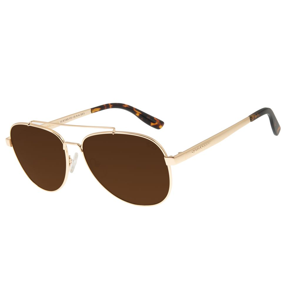 Óculos de Sol Unissex Chilli Beans Aviador Metal Dourado OC.MT.2828-5721
