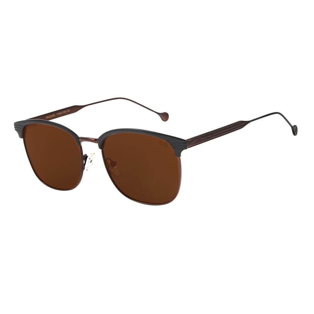 Óculos de Masculino Chilli Beans Jazz Metal Marrom Polarizado OC.MT.2211-0201