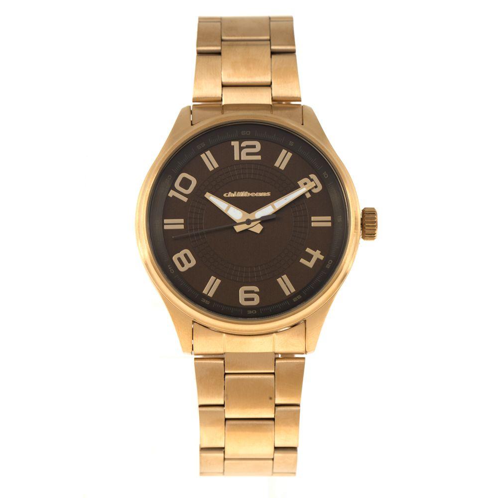 Relógio Analógico Masculino Chilli Beans Metal Dourado RE.MT.0817-0221