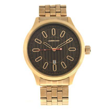 Relógio Analógico Masculino Chilli Beans Stripes Dourado RE.MT.0936-1521