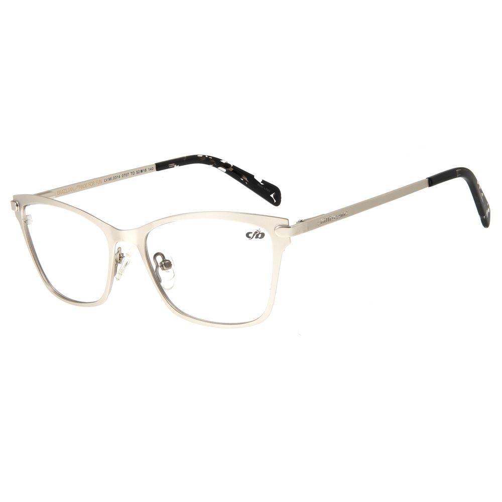 Armação Para Óculos de Grau Feminino Chilli Beans Metal Prata LV.MT.0314-0707