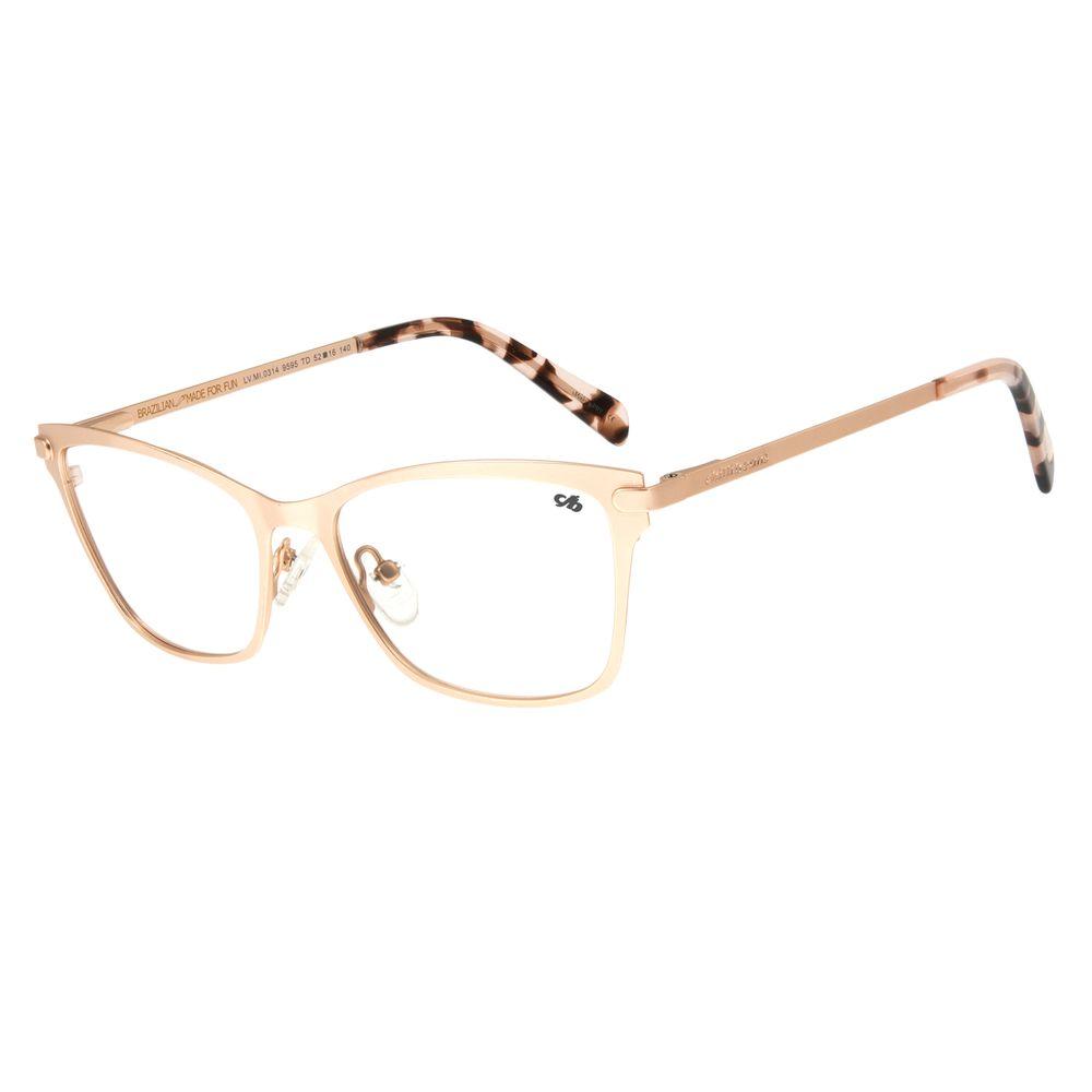 Armação Para Óculos de Grau Feminino Chilli Beans Metal Rosê LV.MT.0314-9595