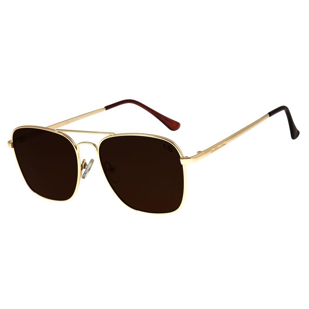 Óculos De Sol Masculino Chilli Beans Clássico Executivo Dourado OC.MT.2712-0221