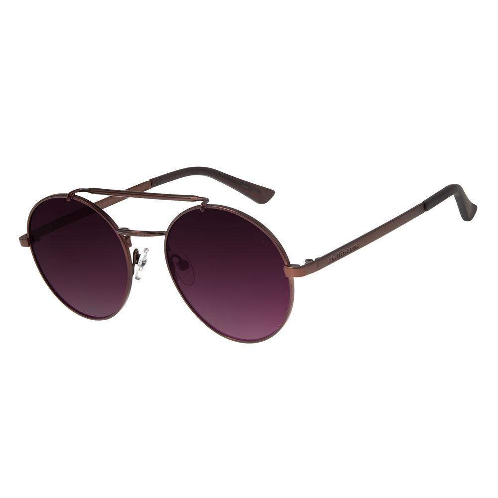 Óculos de Sol Feminino Chilli Beans Redondo Marrom Escuro OC.MT.2717-2047