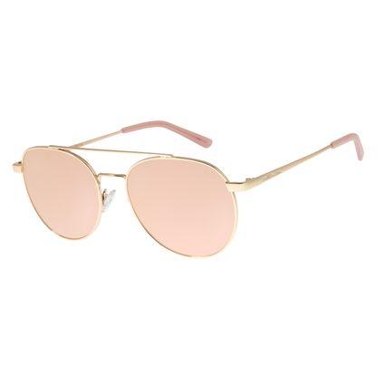 Óculos De Sol Feminino Chilli Beans Redondo Rosê Polarizado OC.MT.2726-9521