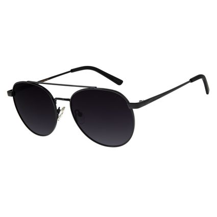 Óculos De Sol Feminino Chilli Beans Redondo Preto Polarizado OC.MT.2726-2001