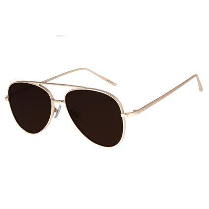 Óculos de Sol Unissex Chilli Beans Aviador Metal Dourado OC.MT.2750-0221