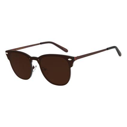 Óculos de Sol Masculino Chilli Beans Redondo Marrom Escuro OC.MT.2757-0247