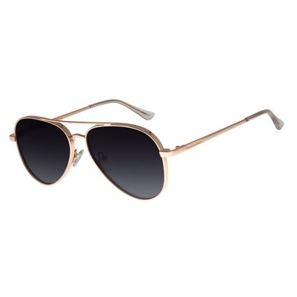 Óculos de Sol Unissex Chilli Beans Aviador Banhado A Ouro Degradê OC.MT.2772-2095
