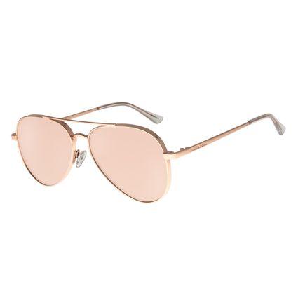 Óculos de Sol Unissex Chilli Beans Aviador Banhado A Ouro Rosê OC.MT.2772-9595