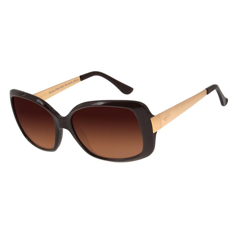 Óculos de Sol Feminino Chilli Beans Borboleta Marrom Escuro OC.CL.2760-5747