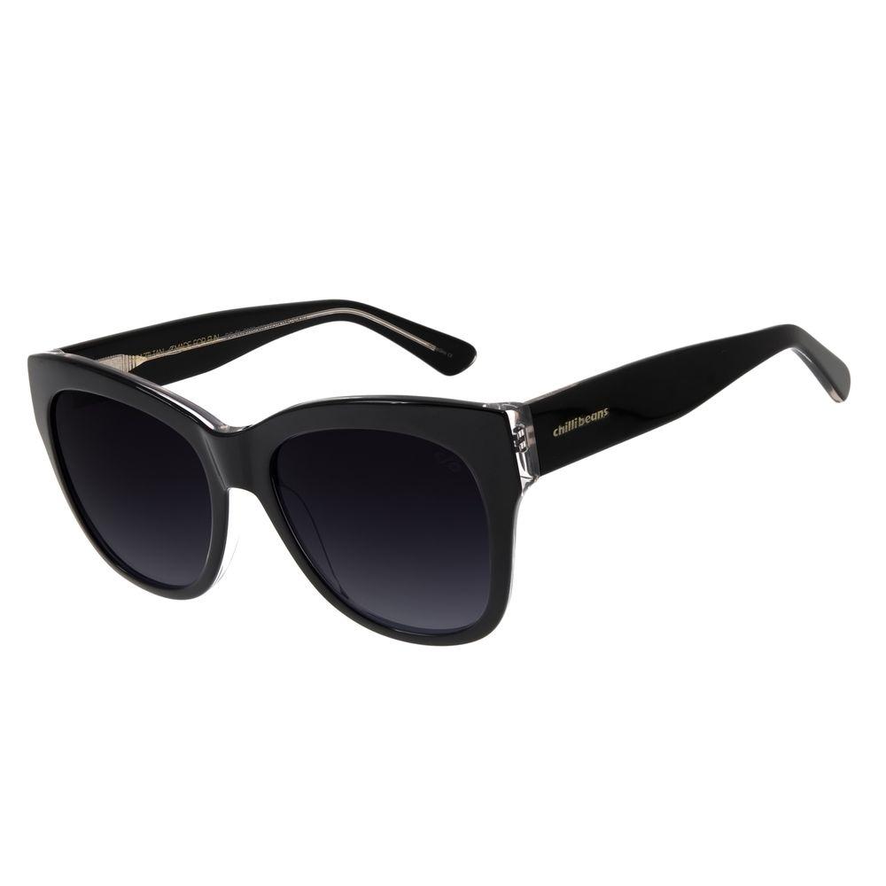 Óculos de Sol Feminino Chilli Beans Quadrado Basic Preto OC.CL.2976-2001