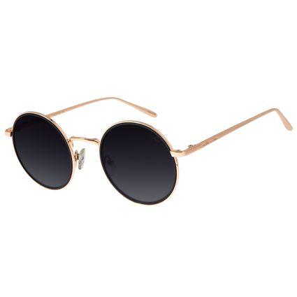 Óculos de Sol Feminino Chilli Beans Redondo Banhado A Ouro Rosê OC.MT.2779-2095