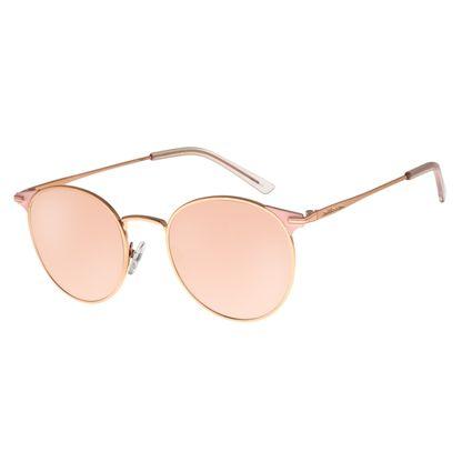 Óculos de Sol Feminino Chilli Beans Banhado A Ouro Rosê Espelhado OC.MT.2735-3295