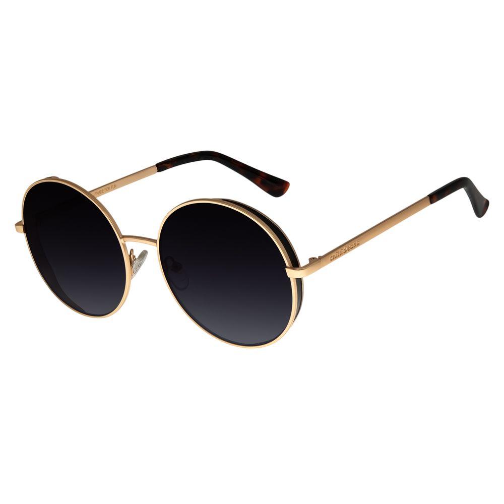 Óculos de Sol Feminino Chilli Beans Redondo Metal Brilho OC.MT.2727-2030