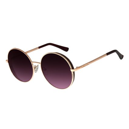 Óculos de Sol Feminino Chilli Beans Redondo Metal Rosê OC.MT.2727-2095