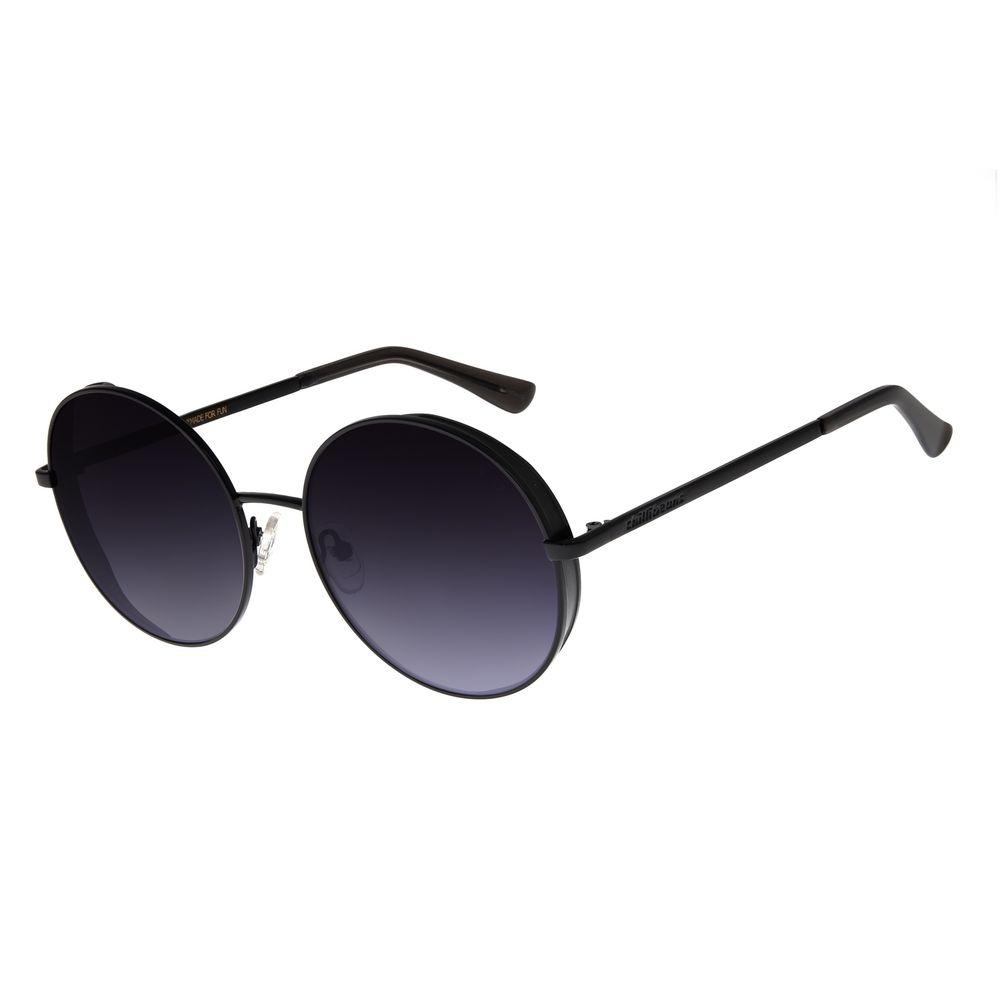 Óculos de Sol Feminino Chilli Beans Redondo Metal Preto OC.MT.2727-2001