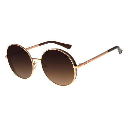 Óculos de Sol Feminino Chilli Beans Redondo Flap Marrom OC.MT.2727-5702