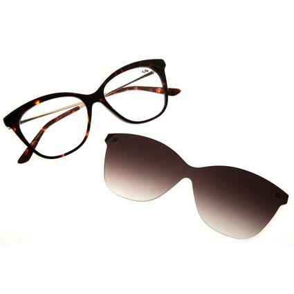 Armação Para Óculos de Grau Feminino Chilli Beans Multi Cat Tartaruga LV.MU.0156-2006