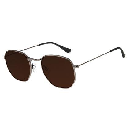 Óculos De Sol Unissex Chilli Beans Metal Ônix OC.MT.2713-0222