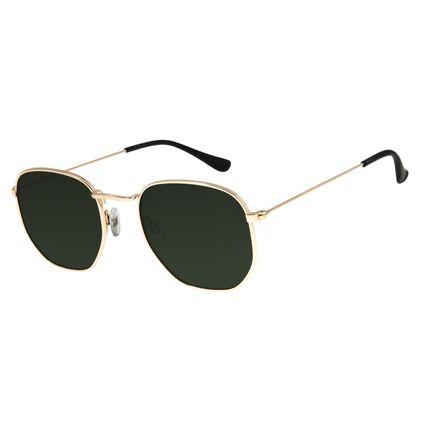 Óculos De Sol Unissex Chilli Beans Metal Dourado OC.MT.2713-1521