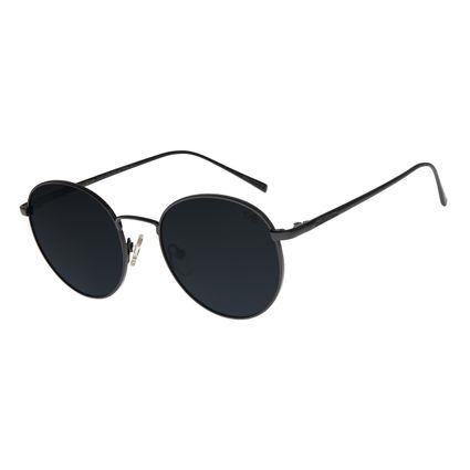 Óculos de Sol Unissex Chilli Beans Redondo Preto Polarizado OC.MT.2736-0101