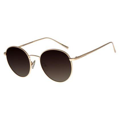 Óculos de Sol Unissex Chilli Beans Redondo Dourado Polarizado OC.MT.2736-5721