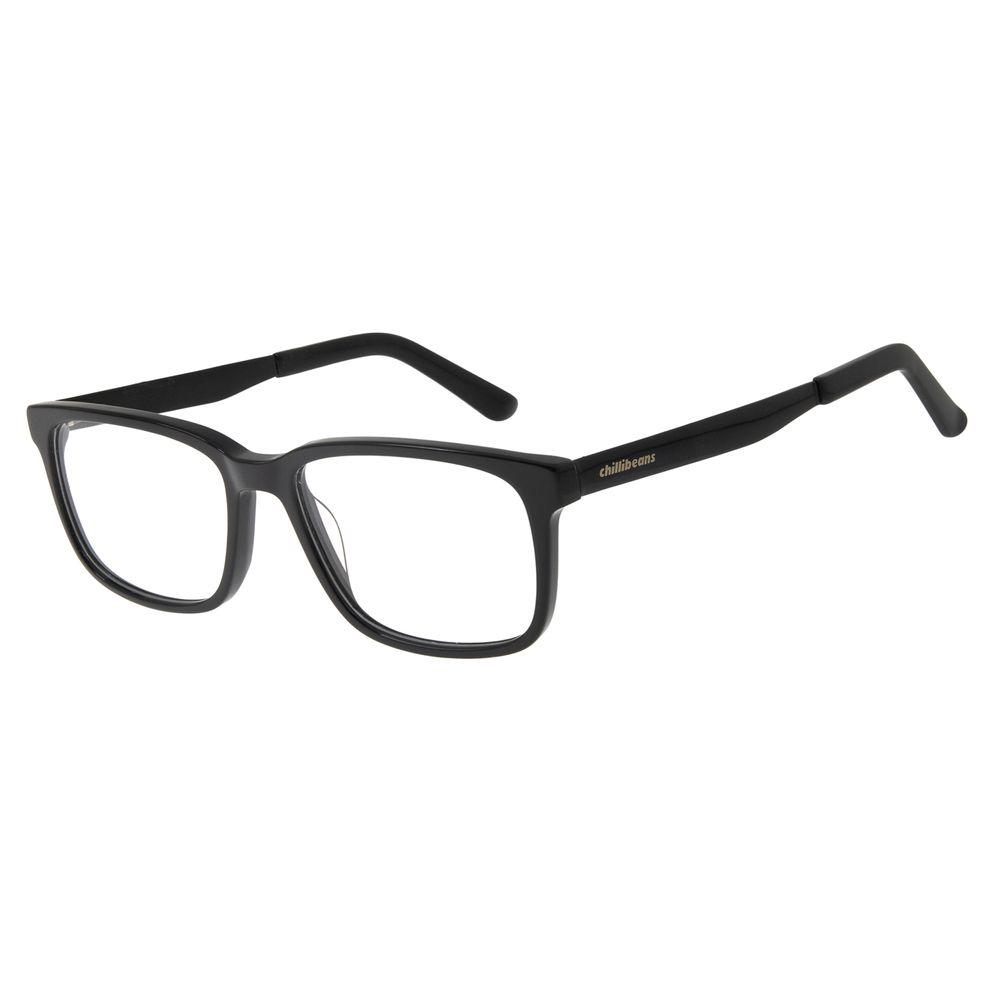 Armação Para Óculos de Grau Masculino Chilli Beans Classic Preto LV.AC.0544-0101